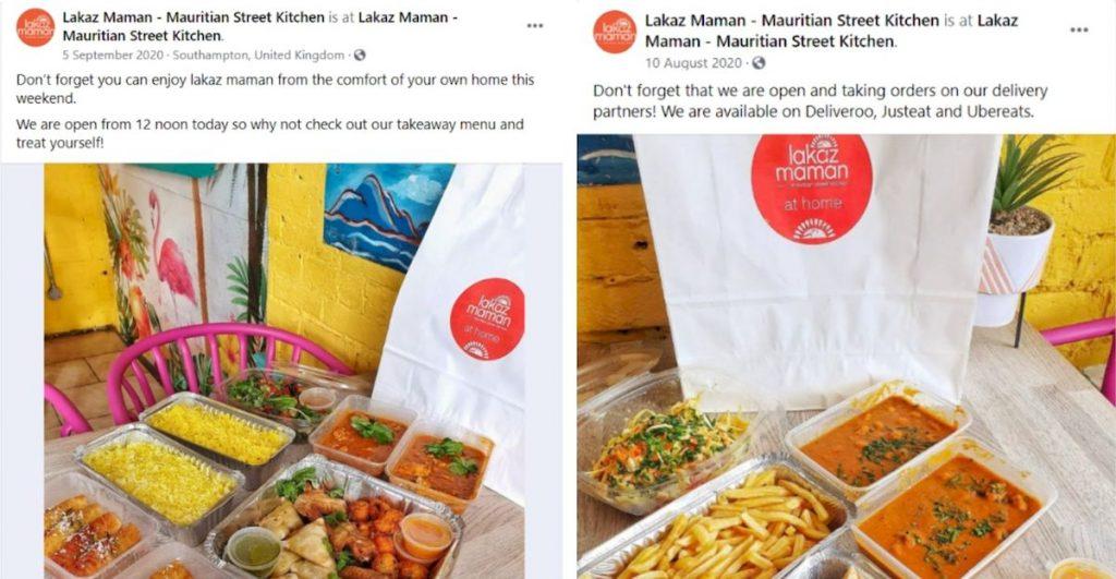 idei postari social media restaurante, aminteste optiunile de livrare