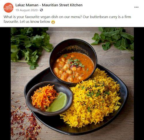 idei postari social media restaurante, anunta optiunile vegetariene, vegane, de post
