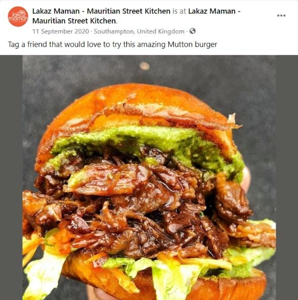 idei postari social media restaurante, tag-uieste un prieten