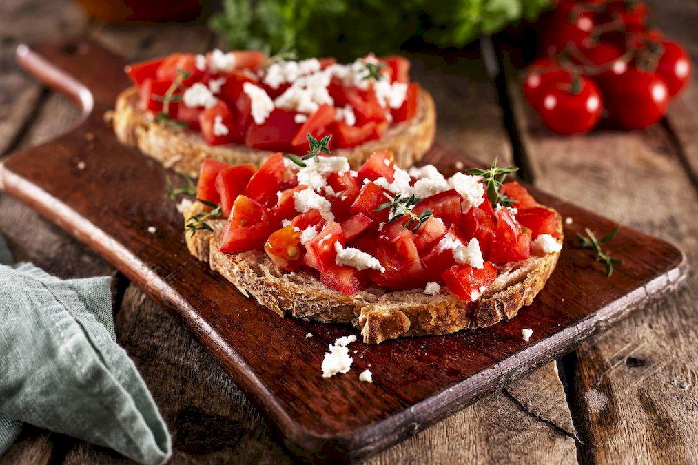 fotografie culinara, bruschette background atemporal
