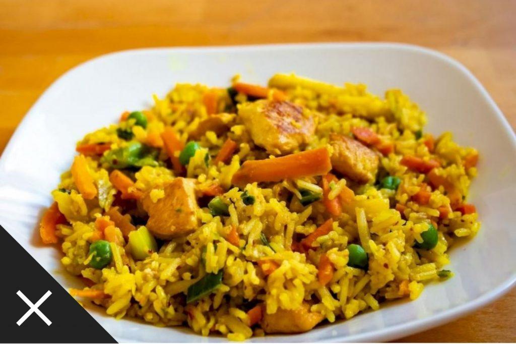 fotografie culinara, orez cu legume