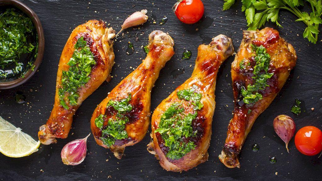 fotografii culinare pentru restaurante, meniu, pulpe de pui
