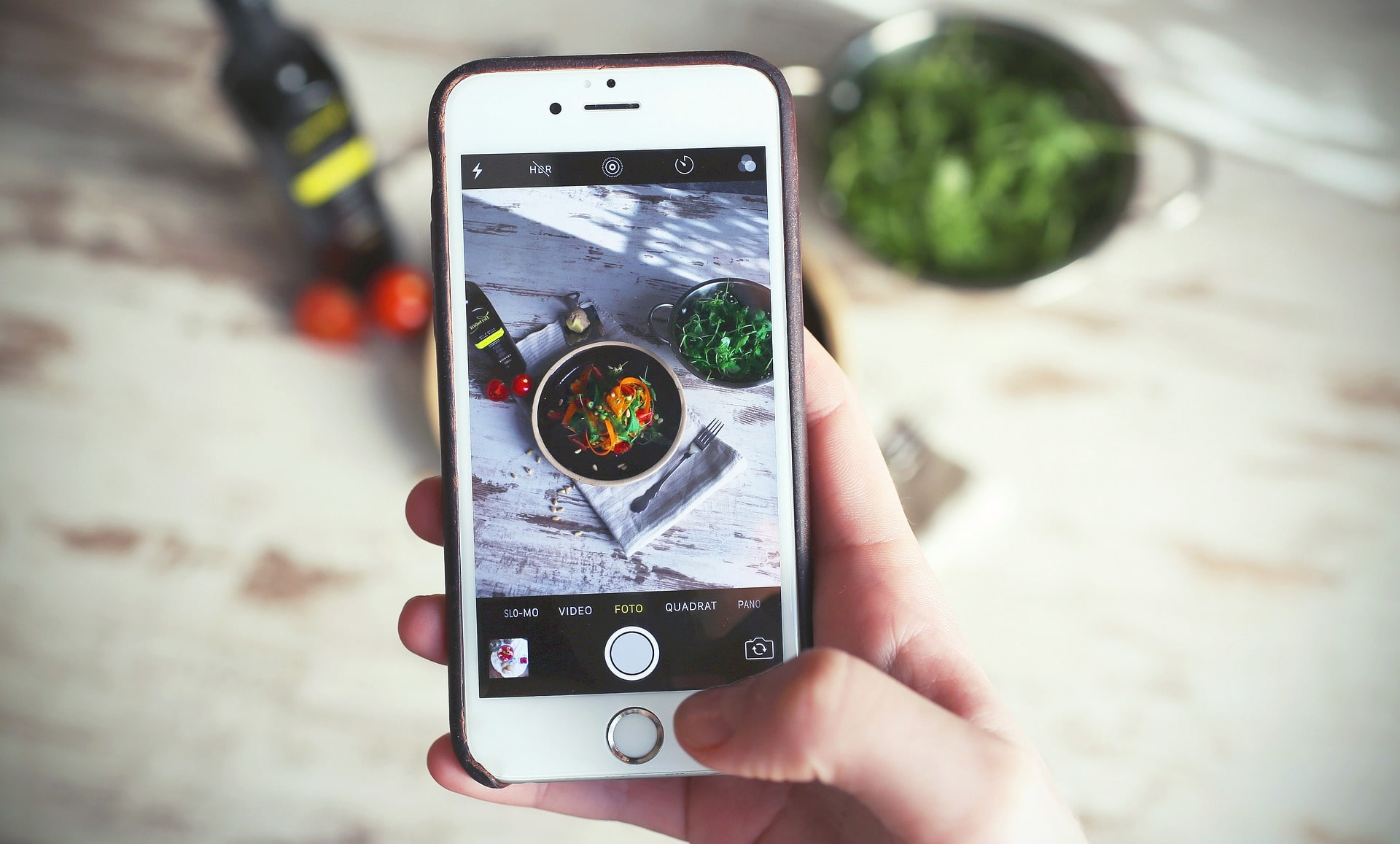fotografii culinare pentru restaurante, iPhone fotografiere meniu