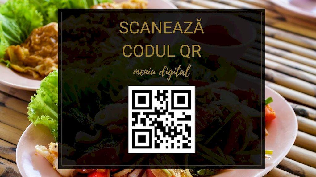 model cod qr restaurant, orizontal