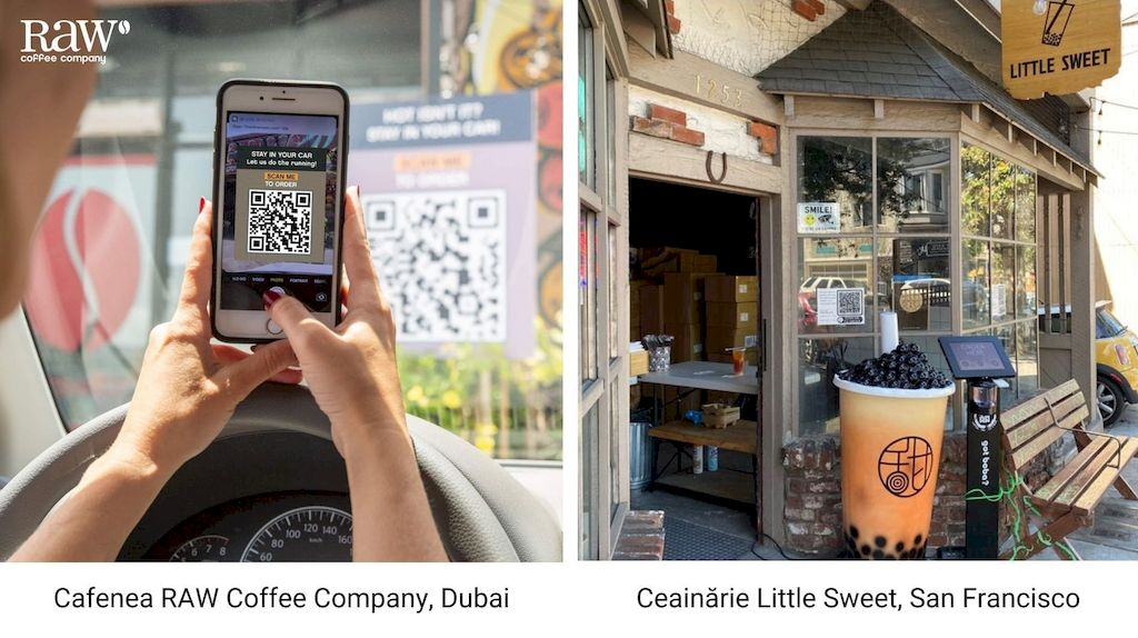 meniu digital qr, exemple de plasare in restaurante