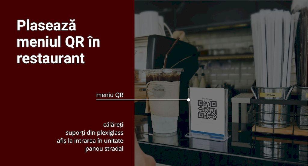 optiuni pentru plasarea codului QR in restaurante